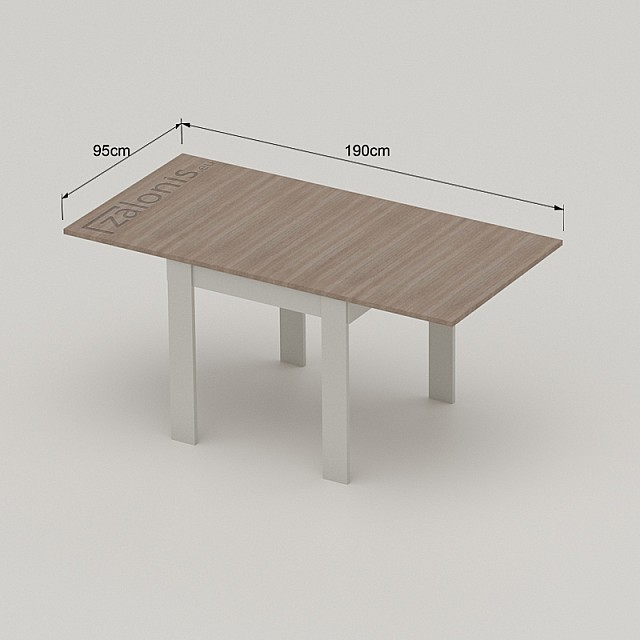 SLIDE WITH FOLDING TABLE LEAF, 80cm
